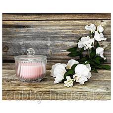 БЛОМДОРФ Ароматическая свеча в стакане, душистый горошек, светло-оранжевый, 9 см, фото 3