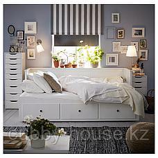 ХЕМНЭС Каркас кровати-кушетки с 3 ящиками, белый, 80x200 см, фото 3
