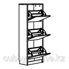 БИССА Галошница,3 отделения, черный, коричневый, 49x135 см, фото 3