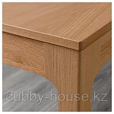 ЭКЕДАЛЕН Раздвижной стол, дуб, 80/120x70 см, фото 3