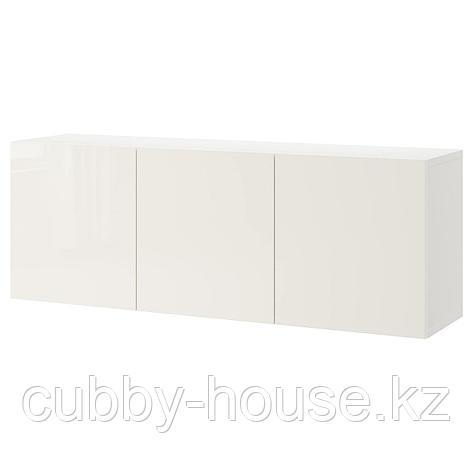 БЕСТО Комбинация настенных шкафов, белый, Лаппвикен белый, 180x42x64 см, фото 2