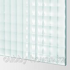 ПАКС Гардероб, белый, Нюкирха закаленное стекло,орнамент «клетка», 200x66x236 см, фото 2