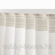 АМИЛЬДЭ Гардины с прихватом, 1 пара, белый, 145x300 см, фото 2