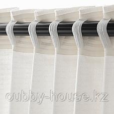 АМИЛЬДЭ Гардины с прихватом, 1 пара, белый, 145x300 см, фото 3