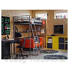 СВЭРТА Каркас кровати-чердака, серебристый, 90x200 см, фото 2