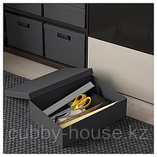 ТЬЕНА Коробка с крышкой, черный, 25x35x10 см, фото 2