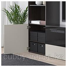 ТЬЕНА Коробка с крышкой, черный, 25x35x10 см, фото 3
