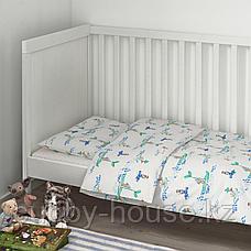 РЁДХАКЕ Комплект постельного белья, 3 предм, плывущий мышонок, 60x120 см, фото 2