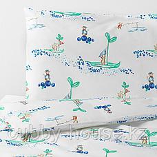 РЁДХАКЕ Комплект постельного белья, 3 предм, плывущий мышонок, 60x120 см, фото 3