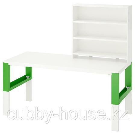 ПОЛЬ Письменн стол с полками, белый, 128x58 см, фото 2