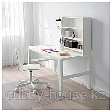 ПОЛЬ Письменн стол с полками, белый, 128x58 см, фото 3