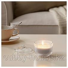 БЛОМДОРФ Ароматическая свеча в стакане, Гладиолус, серый, 9 см, фото 2