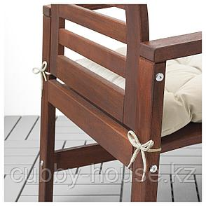 КУДДАРНА Подушка на садовый стул, бежевый, 50x50 см, фото 2
