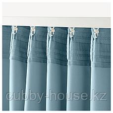 МАРЬЮН Затемняющие гардины, 1 пара, синий, 145x300 см, фото 2