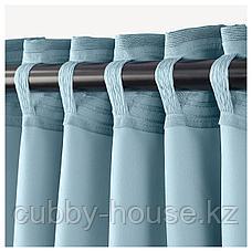 МАРЬЮН Затемняющие гардины, 1 пара, синий, 145x300 см, фото 3