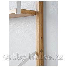 СВАЛЬНЭС Комбинация полок, бамбук, 66x25x176 см, фото 2