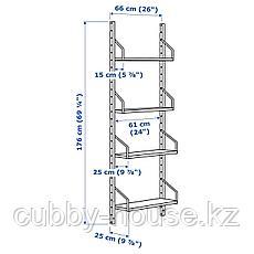 СВАЛЬНЭС Комбинация полок, бамбук, 66x25x176 см, фото 3