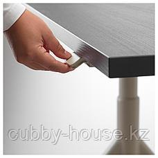 ИДОСЕН Стол/трансф, черный, бежевый, 160x80 см, фото 2