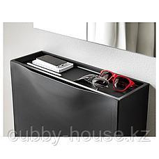 ТРОНЭС Галошница/шкаф, черный, 52x39 см, фото 3