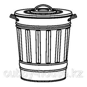 КНОД Ведро с крышкой, серый, 40 л, фото 2