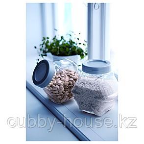 ФОРВАР Банка с крышкой, стекло, цвет алюминия, 1.8 л, фото 2