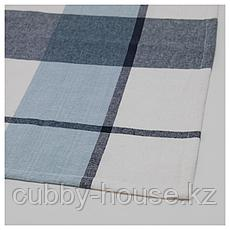 РУТИГ Скатерть, клетчатый орнамент синий, 145x240 см, фото 3