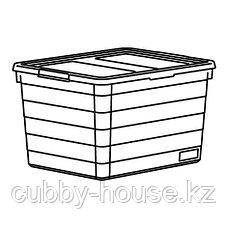 СОККЕРБИТ Контейнер с крышкой, белый, 19x26x15 см, фото 3