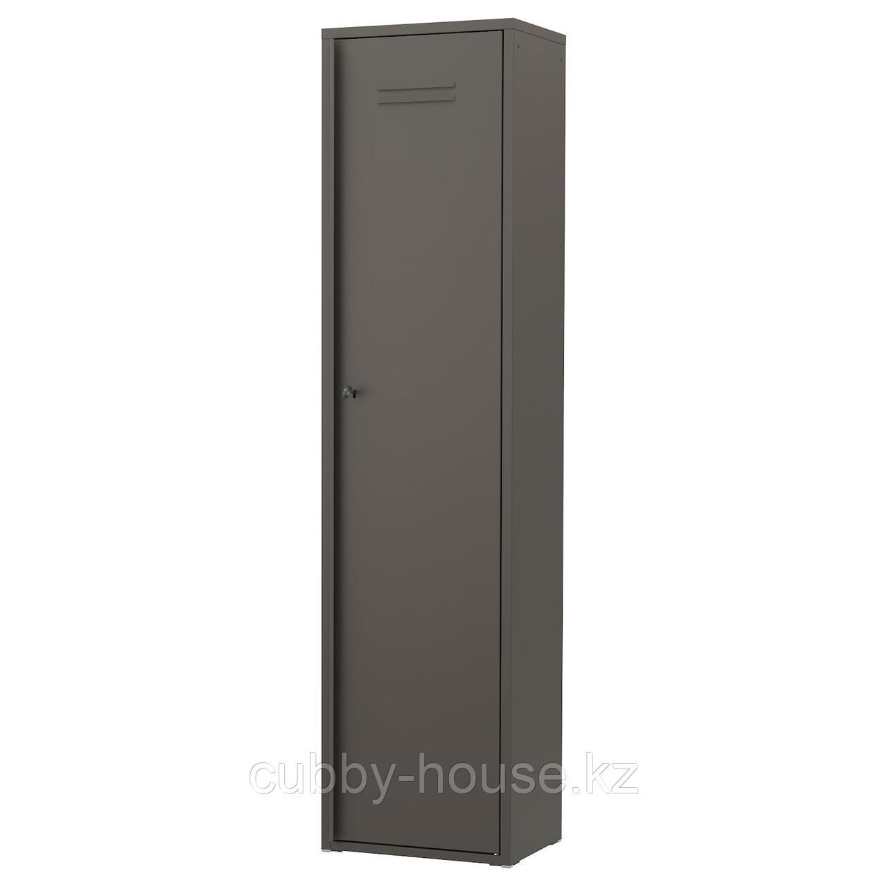 ИВАР Шкаф с дверями, серый, 80x83 см