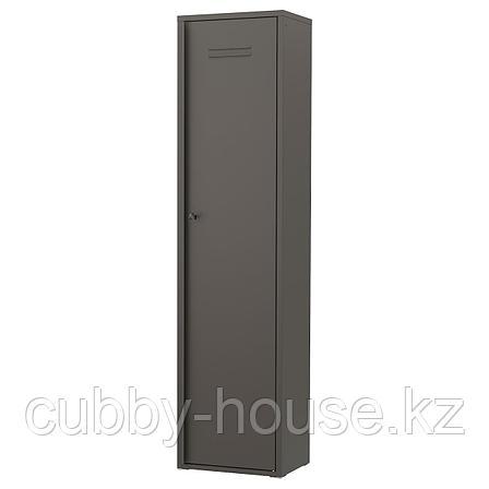 ИВАР Шкаф с дверями, серый, 80x83 см, фото 2