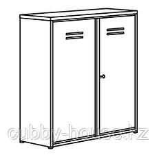 ИВАР Шкаф с дверями, серый, 80x83 см, фото 3