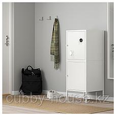 ХЭЛЛАН Комбинация для хранения с дверцами, белый, 45x47x117 см, фото 3