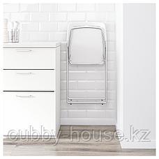 НИССЕ Стул складной, глянцевый белый, хромированный, фото 3