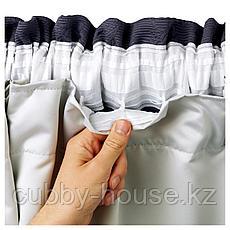 ГЛАНСНЭВА Подкладка д/пары гардин, светло-серый, 143x290 см, фото 3