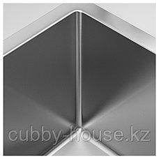 НОРРШЁН Одинарная врезная мойка, нержавеющ сталь, 37x44 см, фото 2