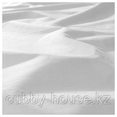 ДВАЛА Простыня натяжная, белый, 140x200 см, фото 2