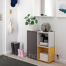 ЭКЕТ Комбинация шкафов с ножками, темно-серый, светло-серый золотисто-коричневый, 70x25x72 см, фото 3