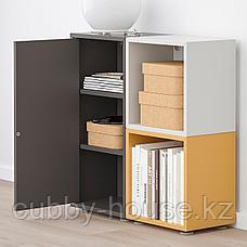 ЭКЕТ Комбинация шкафов с ножками, темно-серый, светло-серый золотисто-коричневый, 70x25x72 см, фото 2