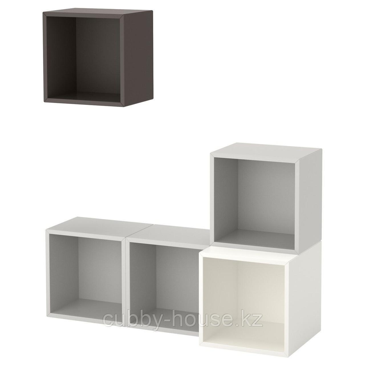 ЭКЕТ Комбинация настенных шкафов, белый, 105x35x120 см