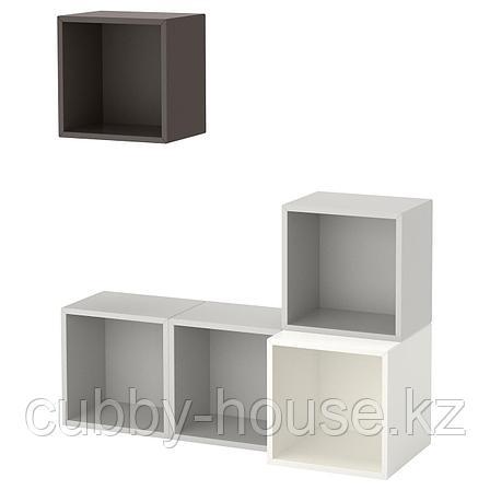 ЭКЕТ Комбинация настенных шкафов, белый, 105x35x120 см, фото 2