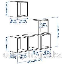 ЭКЕТ Комбинация настенных шкафов, белый, 105x35x120 см, фото 3