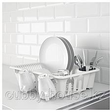 ФЛЮНДРА Сушилка посудная, белый, фото 2