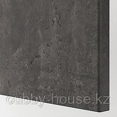 КЭЛЛЬВИКЕН Дверь, темно-серый под бетон, 60x64 см, фото 3