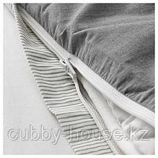 БЛОВИНДА Пододеяльник и 2 наволочки, серый, 200x200/50x70 см, фото 2
