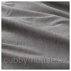 БЛОВИНДА Пододеяльник и 2 наволочки, серый, 200x200/50x70 см, фото 3