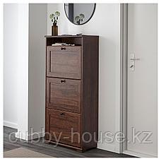 БРУСАЛИ Галошница,3 отделения, коричневый, 61x130 см, фото 3