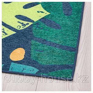 УРСКОГ Ковер безворсовый, лист, зеленый, 133x160 см, фото 2