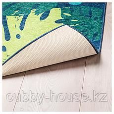 УРСКОГ Ковер безворсовый, лист, зеленый, 133x160 см, фото 3