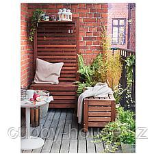 ЭПЛАРО Садовая скамья с ящиком, коричневая морилка, 80x41 см, фото 3