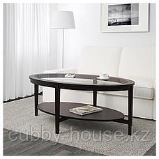 МАЛМСТА Журнальный стол, черно-коричневый, 130x80 см, фото 3