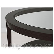 МАЛМСТА Журнальный стол, черно-коричневый, 130x80 см, фото 2